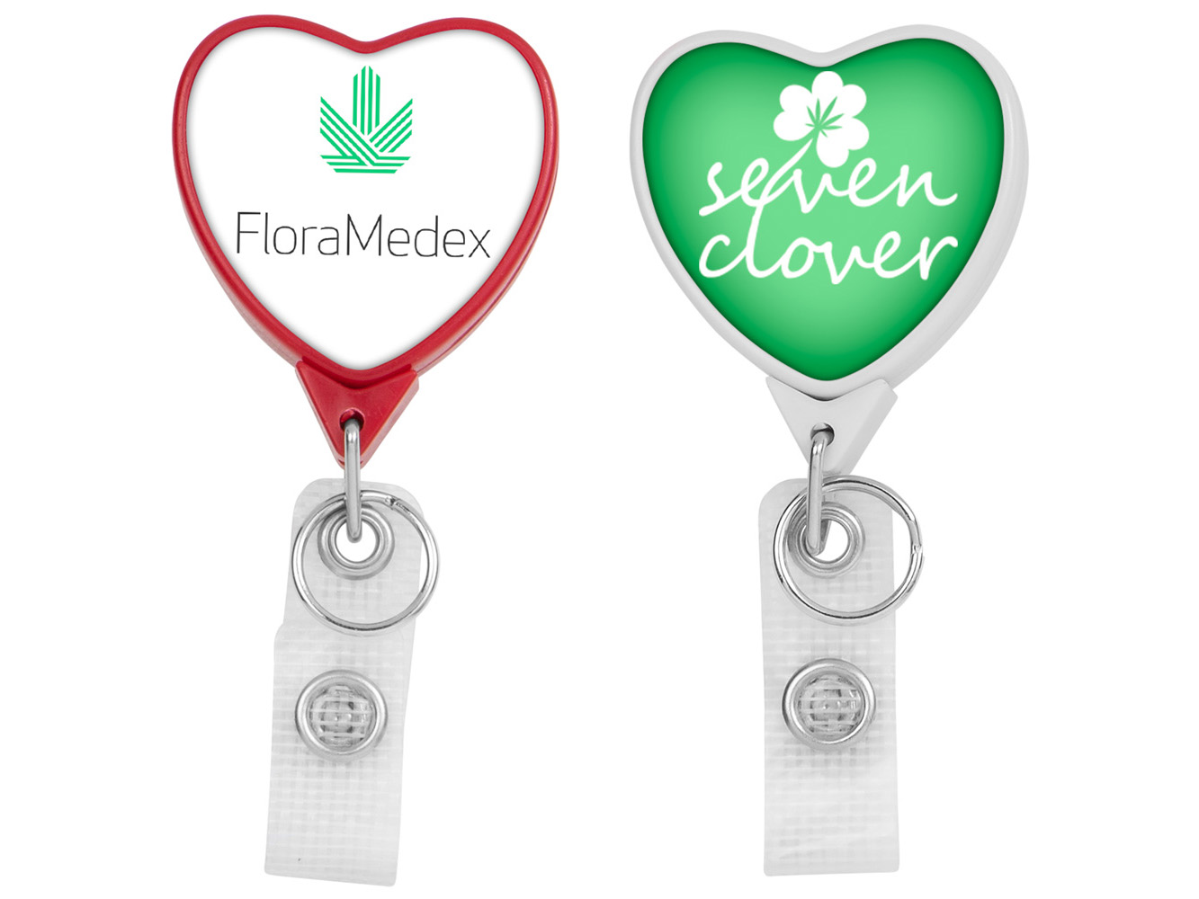 BHH85:  Hemp JUMBO Heart Badge Reel