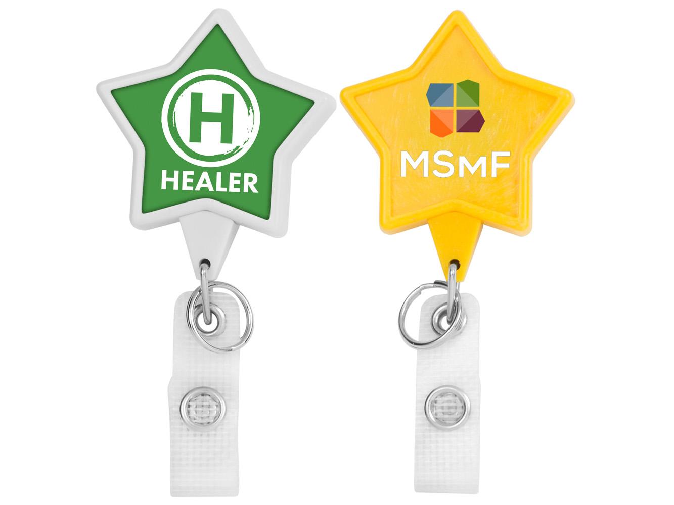 BHH86:  Hemp JUMBO Star Badge Reel