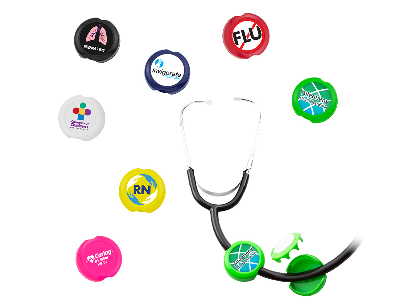 ST99: Anti-Microbial Saucer Stethoscope ID Tag