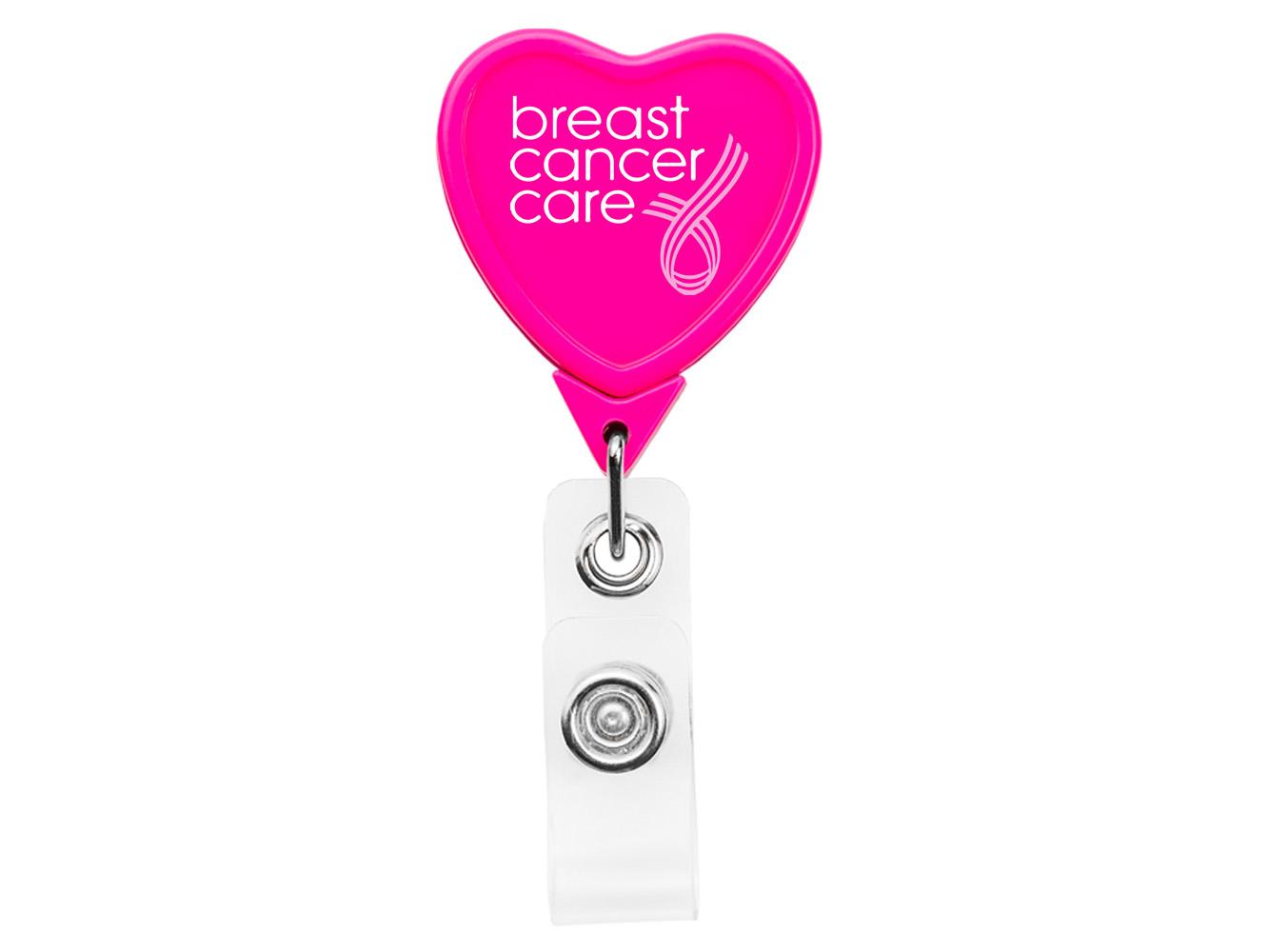BH5HRTHP: Hot Pink Heart Badge Reel