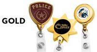 Gold Retractable Badge Reels