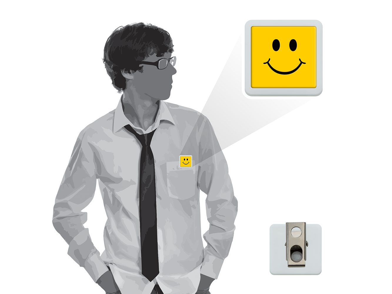 BHBM5:  Square Button-Meez