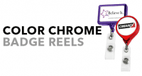 Color Chrome Retractable Badge Reels