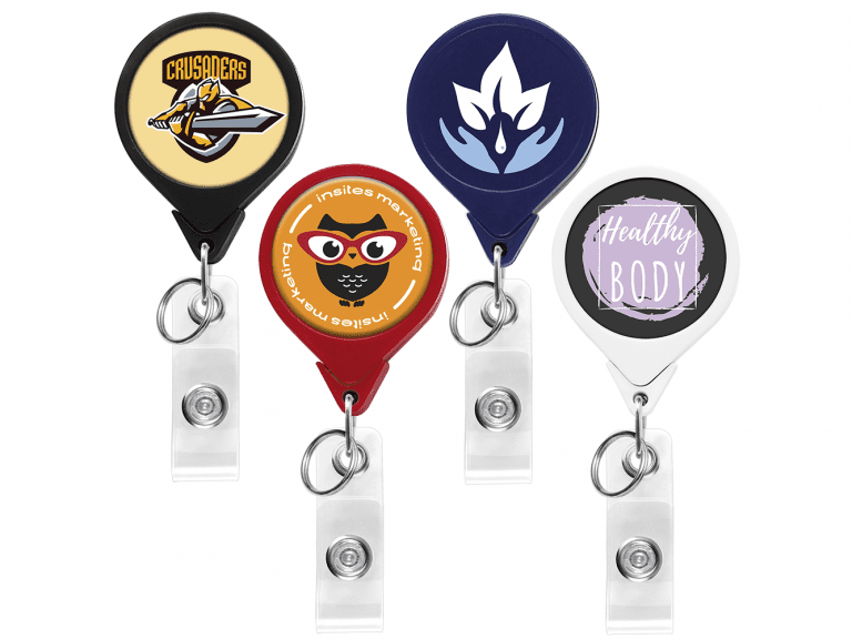 BHK44: Round Dual Back Badge Reel