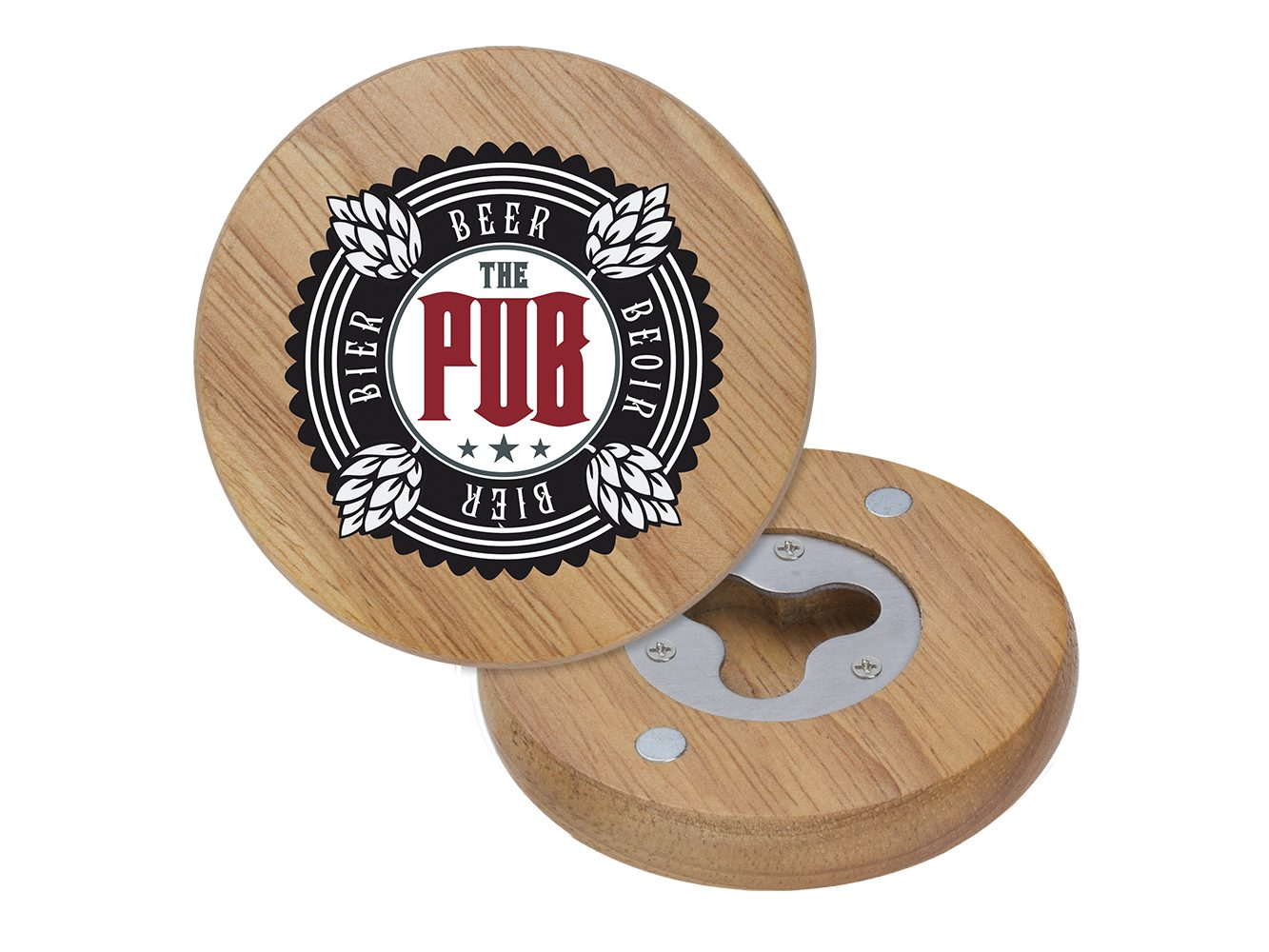 BTL7: Wood Coaster Bottle Opener