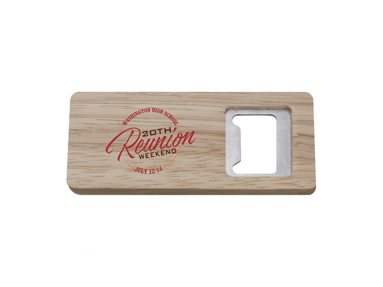 BTL8: Rectangle Wood Bottle Opener