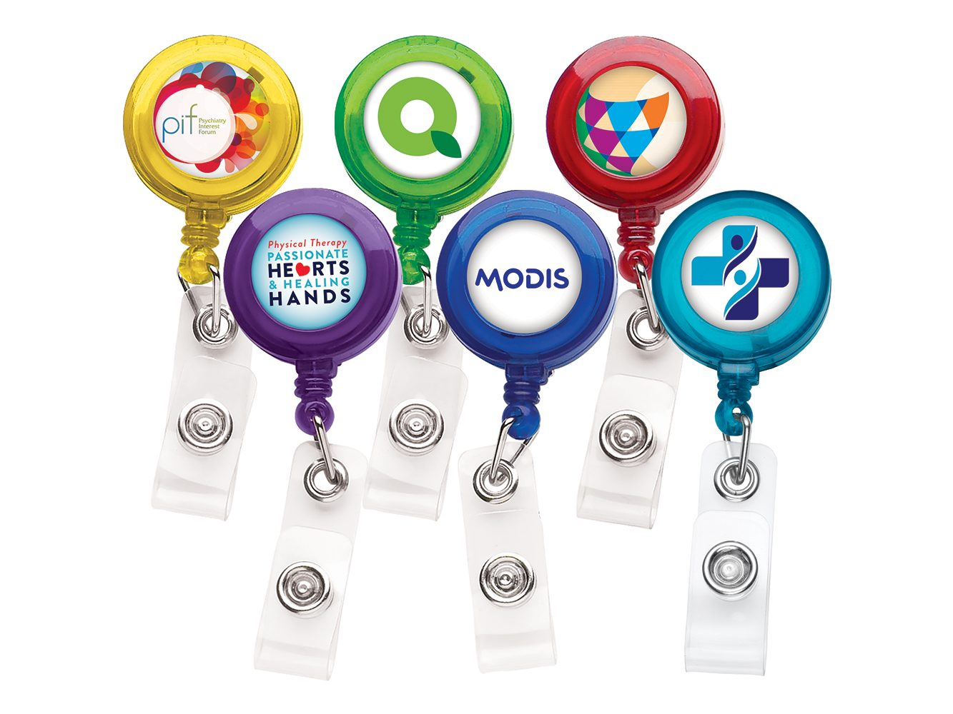 Promotional 30 Inch Cord Round Retractable Badge Reel with